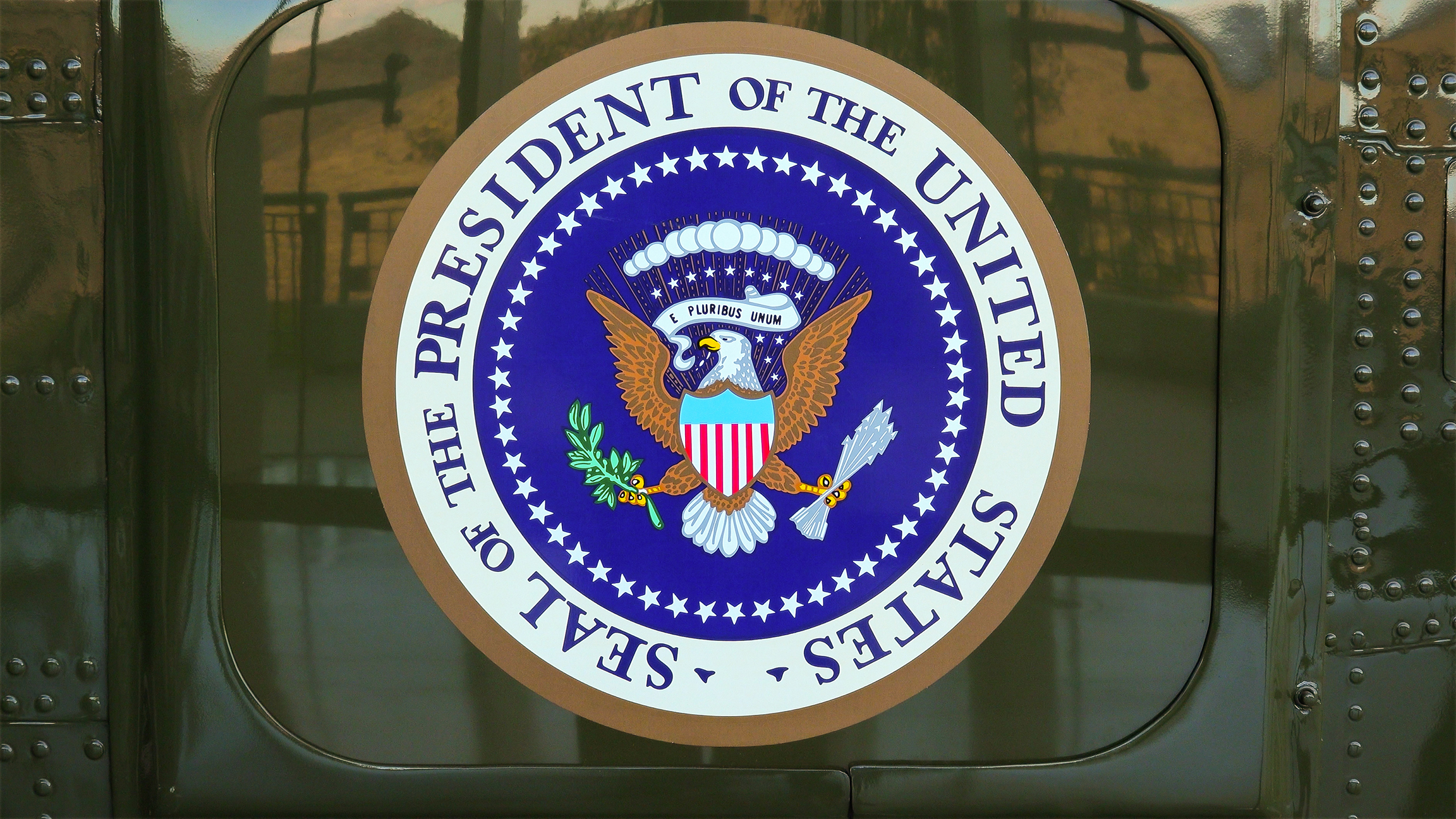 The seal of the President of the United States of America